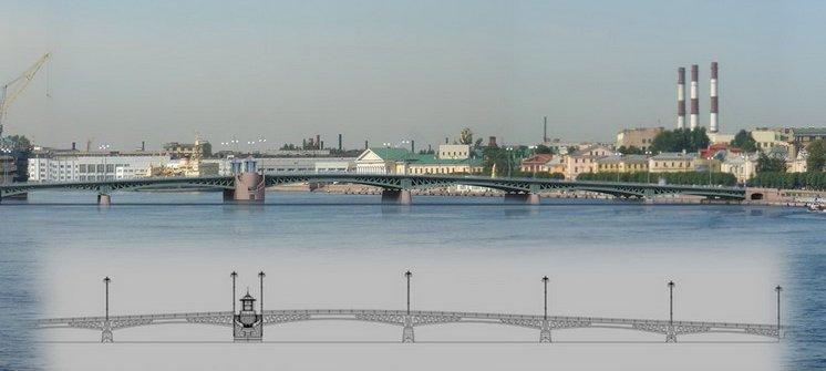 Схема движения по Ново-Адмиралтейскому мосту и через Ново-Адмиралтейский остров.