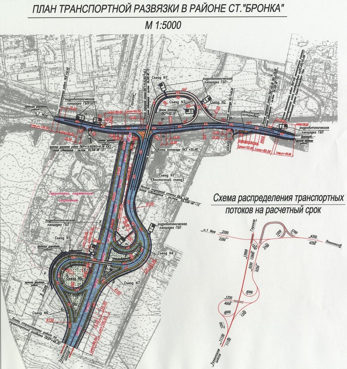 кад развязки петербург схема