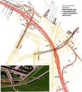 Схема развязок в Мурино и на продолжении Гражданского проспекта.  - Предоставил: Алексей Шварев.