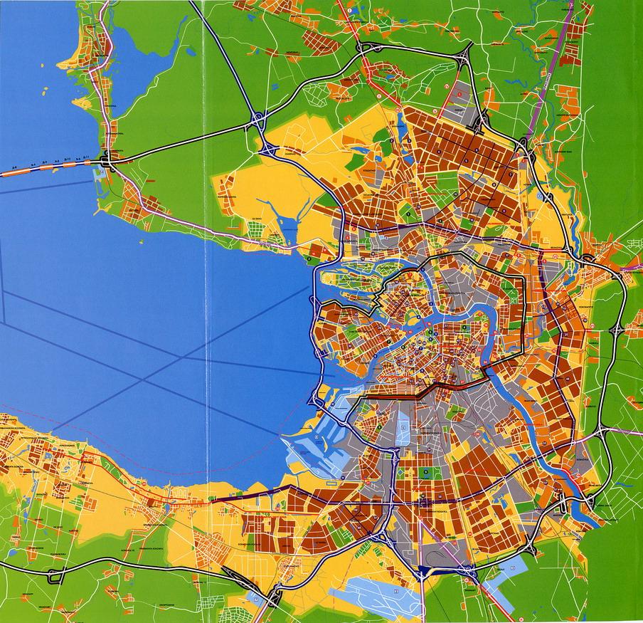 Схема развития улично-дорожной сети С-Петербурга (рекламная схема с подписями на английском языке) .