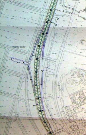 Схема проекта.  Кликните, чтобы увидеть исходную схему северо-западного участка ЗСД на Васильевском острове.