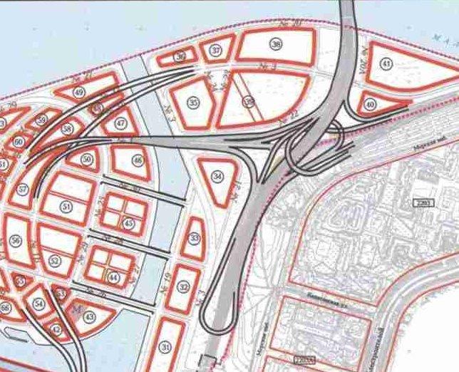 Кликните, чтобы увидеть исходную схему северо-западного участка ЗСД на Васильевском острове.  - Предоставил. kot.